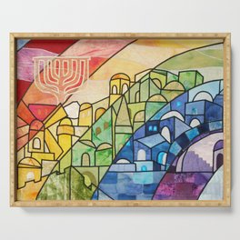 Jerusalem Rainbow Serving Tray