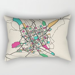 Colorful City Maps: Riyadh, Saudi Arabia Rectangular Pillow