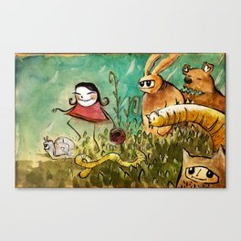 chaperon rouge, Little red riding hood... and co Canvas Print