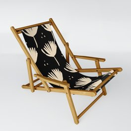Leaves in black and ivory Sling Chair