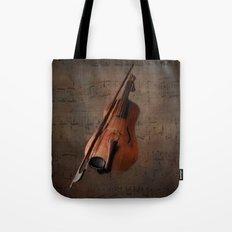 Painting Vintage Violin Tote Bag