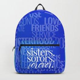 SISTERS. SORORS. FOREVER. (BLUE) Backpack