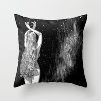 apollonia Throw Pillows featuring asc 604 - L'invocation à Vénus (Venus under the sky) by From Apollonia with Love