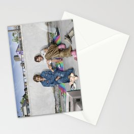 John and Paul get away from it all Stationery Cards