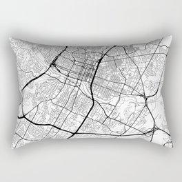 Austin Map White Rectangular Pillow