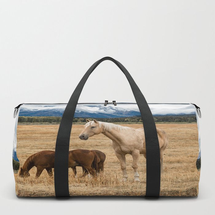 Mountain Horse - Western Style in the Grand Tetons Duffle Bag