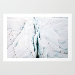 Minimalist Glacial Structures in Iceland – Landscape Photography Art Print