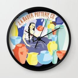 Bauer Pottery Advertising Wall Clock
