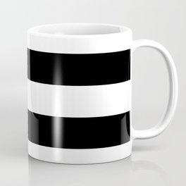 Black and White Large Stripes Coffee Mug