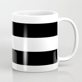 Black and White Large Stripes Coffee Mug