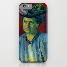 "Alexej von Jawlensky ""Portrait of Hedwig Kubin"" 1906 iPhone Case"