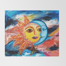 Sun and Moon United Throw Blanket