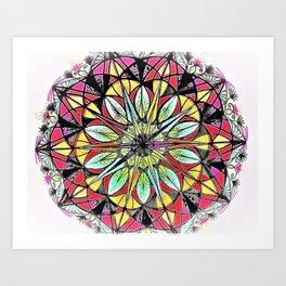 Compass Mandala Art Print