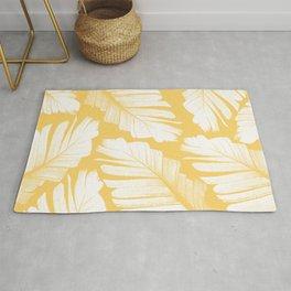 Yellow Banana Leaves Dream #1 #tropical #decor #art #society6 Rug