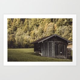 Cabin in Bavaria, Garmisch Partenkirchen, Alps, Germany Art Print