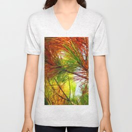 Pine branches with long and dense needles Unisex V-Neck