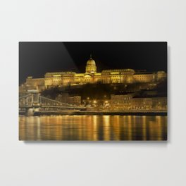 Budapest Golden Night Metal Print