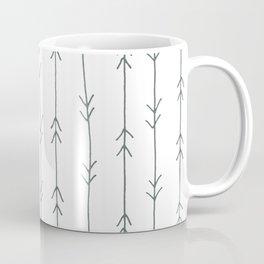 Grey, Steel: Arrows Pattern Coffee Mug