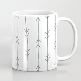 Grey, Steel: Arrows Pattern Coffee Mug