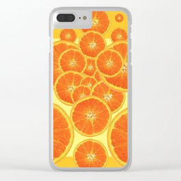 CONTEMPORARY ORANGE SLICES  ABSTRACT MODERN ART Clear iPhone Case