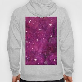 Watercolor galaxy - pink and purple Hoody