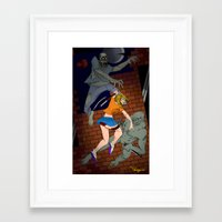 foo fighters Framed Art Prints featuring Fighters by Al Barazi