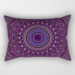Pretty Particle Pattern Mandala Rectangular Pillow