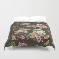 donuts Duvet Covers featuring Botanic Wars by Josh Ln