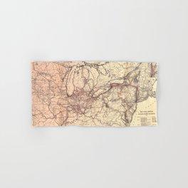 New York Central & Hudson River Railroad Map (1900) Hand & Bath Towel
