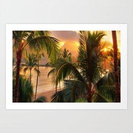 Kauai Tropical Island by OLena Art Art Print