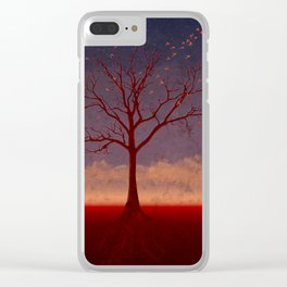 Geo Tree Clear iPhone Case