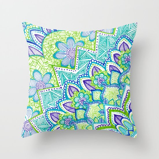 Sharpie Doodle 2 Throw Pillow