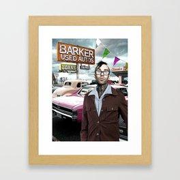 Barker Used Cars Framed Art Print