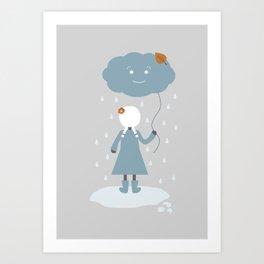 Autumn Rain (v2) Art Print