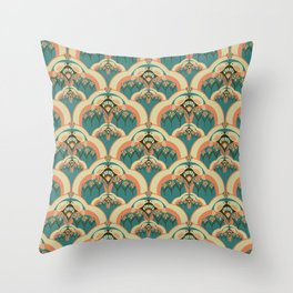A Deco Garden Throw Pillow