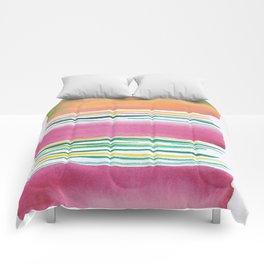 4  |181026 Lines & Color Block | Watercolor Abstract | Modern Watercolor Art Comforters