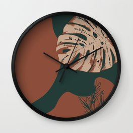 Botanical Tropical Wall Clock