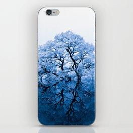 Blue Winter Trees iPhone Skin