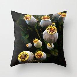 Poppy Seed Pod  Throw Pillow