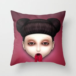 Misfit - Sakura Throw Pillow