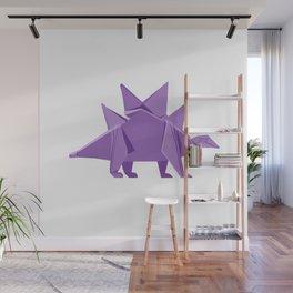 Origami Stegosaurus Wall Mural