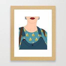 Pineapple - Banana Time Framed Art Print