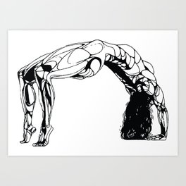 Female Bridging the Gap Art Print