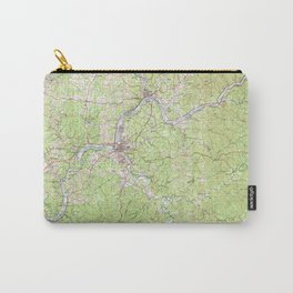 WV Parkersburg 701704 1981 topographic map Carry-All Pouch