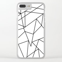 Simple Modern Black and White Geometric Pattern Clear iPhone Case
