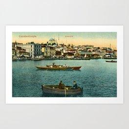 Vintage Golden Horn Constantinople ca 1900  Art Print