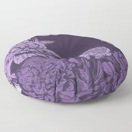 VIOLET FLORAL SYMPHONY Floor Pillow