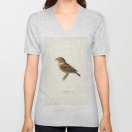 Caspian lern (HYDROPROGNE CASPIA) illustrated by the von Wright brothers Unisex V-Neck