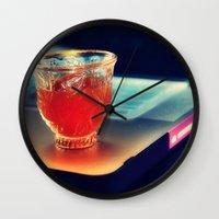 arabic Wall Clocks featuring Arabic Coffee by Grim99