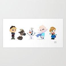 Frozen Friends Art Print